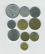 France - Lot of 10 different pre-Euro coins - Great Starter - Lot #FR19