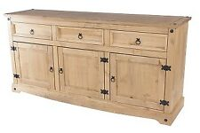 Corona pine home living room furniture large sideboard 3 drawer 3 door unit-CP
