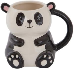 GIFTWORKS 3D PANDA MUG 270ML - 4502 CUP TEA COFFEE NOVELTY CUTE DOLOMITE ANIMAL