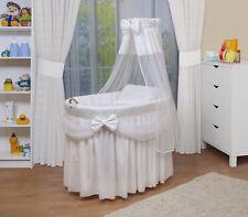 Waldin Baby Collection Berceau XXL en Osier pour Bébé - Blanc, 105 x 70 x 80 cm
