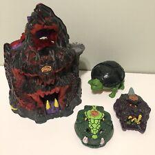 Might Max & Micro Teenage Mutant Ninja Turtle Lot - TMNT Skull Mountain Set