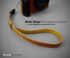 Lim's Camera Genuine Leather Wrist Strap Hand Grip Light Brown Leica Sony DSLR
