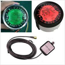 Multifunction 6in1 Car GPS Speedometer Tachometer Water Temp Voltmeter LED Gauge