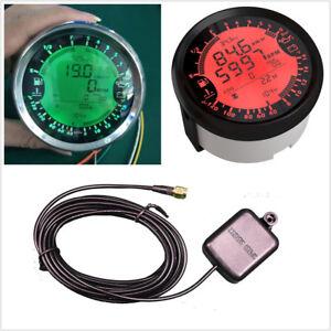 Multifunction 6in1 Car GPS Speedometer Tachometer Water Temp Voltmeter LED Gauge