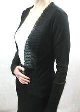 Marilyn Seyb Size 10 Black Knit Classic Cardigan