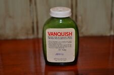 Vintage Green Medicine Bottle VANQUISH Pain Reliever Aspirin Movie Prop Empty
