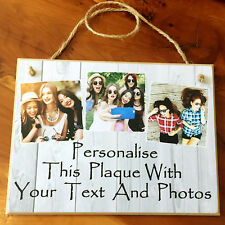 """8x6"""" Personalised Photos Plaque for Best Friend Sister Mum Dad Grandma Gifts"""
