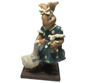 K's Collection Figurines Easter Bunny/ Goose 5 7/8'' Tall