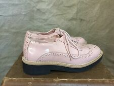 H&M Rubber Sole PINK PATENT WINGTIP SHOES Oxford DIVIDED 37 6