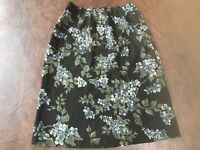 Women's Size S Skirt  THE LIMITED Floral  Italy  Side Zip