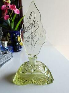 Antique Bohemian Art Nouveau Glass Perfume Bottle - Heinrich Hoffman C.1910