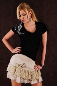 Redial T-Shirt mit Print , schwarz Gr.34-38