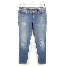 Marc Cain Sports Jeans Damen Gr 36 N2 W29 L30 Blau Slim Tapered Boyfriend Ripped