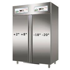 ARMADIO REFR. INOX N.2 PORTE DOPPIA TEMPER. +2+8°C / -18-22°C MOD.GN1200DT