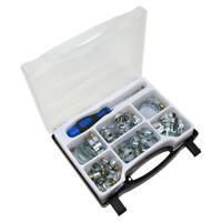 Lobinger® 51 teiliges Schlauchschellen Set Sortiment Box Spezial Schraubendreher