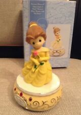 """Precious Moments Disney Showcase Belle """"Beauty And The Beast"""" Musical #893502"""