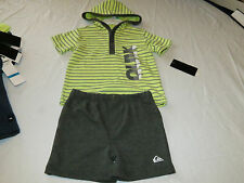 Quiksilver Boys baby youth hoody T shirt shorts set outfit 24 M month 4057033-99