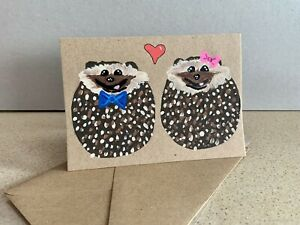 Handmade Hedgehog Card anniversary , Birthday, Greetings Card, Free Post