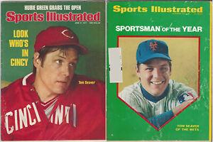 1969 + 1977 Sports Illustrated Tom Seaver December 22 + June 27 Lot