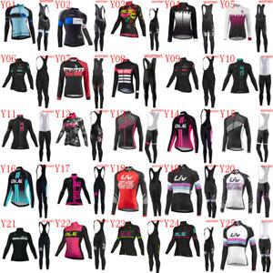 Cycling Jersey Set 2021 Women long sleeve bike shirt bib pants Suit bike Outfits