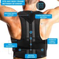 Men Women Adjustable Posture Corrector Back Support Shoulder Lumbar Brace Belt
