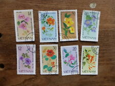 VIETNAM 1980 FLOWERS SET 8 C.T.O. USED STAMPS