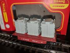 TRI-ANG HORNBY R340 CONFLAT 'L' WITH CONTAINERS BOXED