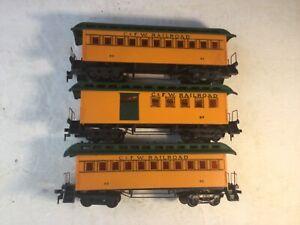 TYCO MANTUA HO Scale C. & F.W. Railroad Passenger Cars #93 (x2) & Combine #97 NR