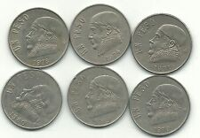 HIGH GRADE LOT 6 MEXICO 1 PESO (SNAKE)-1971,1974,(2)1978,1979,1980-JUL486