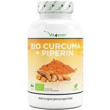 Bio Kurkuma 365 vegane Kapseln 4500mg + Piperin Curcuma - 5% Curcumin Turmeric