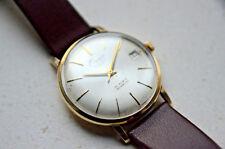 Onix 14ct gold gents wristwatch, 25 Jewel Incabloc movement, stunning!