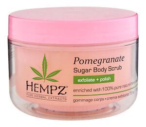 Hempz Pomegranate Herbal Sugar Scrub 7.3 oz. Body Exfoliator
