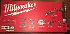 milwaukee 2696-26 M18 Cordless 6 -tool Combo Kit...