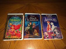 WALT DISNEY'S Lot Of 3 VHS Clam Shell Cases Classics Collection