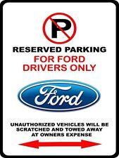 Ford Emblem Logo F150 Mustang Torino Falcon Fairlane Galaxie No Parking Sign NEW