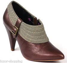Neu FORNARINA Shoes Ankle Boot Leder Gr.35 Braun Pumps Damen Schuhe Stiefeletten