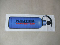 VINTAGE Nautica Competition Flag Banner Store Display White Blue Spell Out 90s
