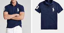 Ralph Lauren Polo Shirt - Navy / White - Extra Large (40-42in chest)