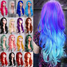 Full Wigs Multi-color Long Straight Cosplay Wig For Women Ladies Heat Resistant