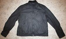 Barbour International WINTER SPROCKET Padded Waxed Jacket in Black - XL [4086]