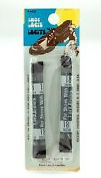 Vintage Shoe Laces Lacets Hickory Industries Made In USA 18 Inches Brown L650