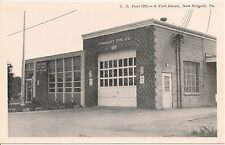 U.S. Post Office & Fire House New Ringold PA Postcard