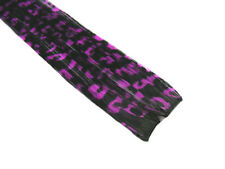"CLIP-IN 12"" HAIR EXTENSION BLACK PURPLE LEOPARD EMO"