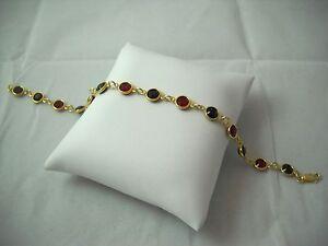 """SWAROVSKI Elements & 14K Gold Filled Bracelet 8"""" NWOT"""