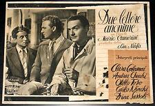 fotobusta film DUE LETTERE ANONIME Andrea Checchi Otello Toso 1945