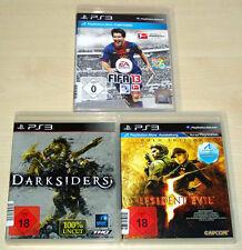 3 PLAYSTATION 3 giochi ps3 raccolta FIFA 13 DARKSIDERS Resident Evil 5 GOLD