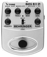 BEHRINGER BDI21 V-Tone Bass EMULATORE VALVOLARE E DI BOX ATTIVA PER BASSO