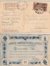 UNIONE SBORNIETTISTICA LAZIALE-DIPLOMA D'ONORE-Frascati->Governolo 5.9.1933