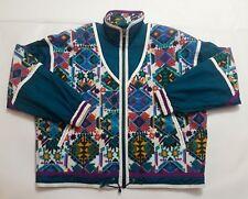 East West Womens Large VTG 80s Geometric Fleece Windbreaker Full Zip Jacket