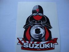 "2  SUSUKI 3.5"" STICKERS  ISLE OF MAN TT CAFE RACER KAWASAKI  MOTORBIKE  YAMAHA"